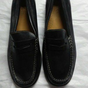 Cole Haan Pinch Penny Black Leather Loafers 8 1/2
